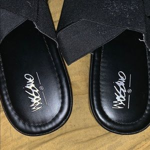Mossimo Supply Co. Shoes - Mossimo black platform sandals size 11